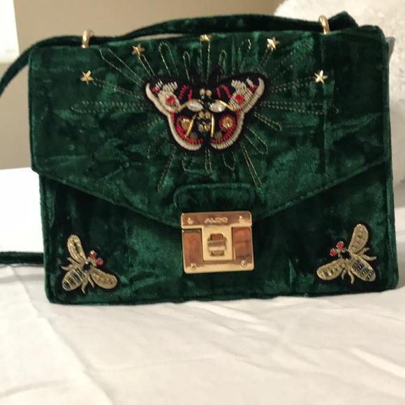 28aef83475d Aldo Handbags - Aldo velvet and butterfly bag